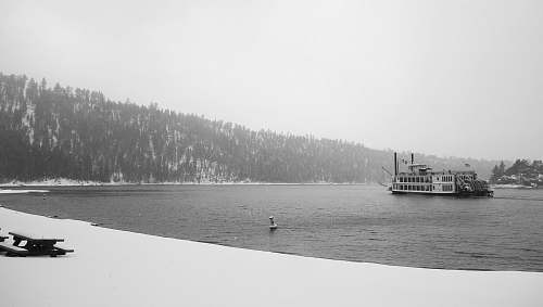 steamer grayscale photo of ship on body of water boat