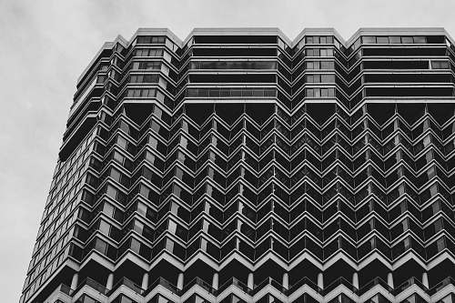 rug grayscale photography of high-rise building rittenhouse hotel