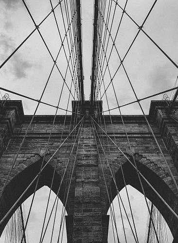 building grey suspension bridge bridge