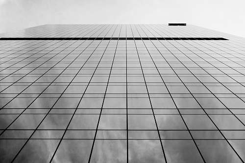 grey low-angle view of building architecture