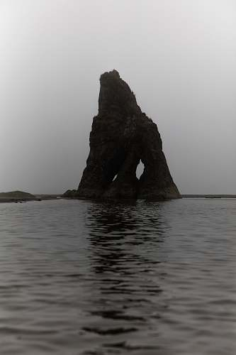 ruby beach rock formation on body water sea