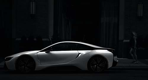 car silver sports coupe sports car