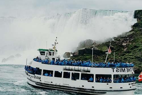 ferry people in ship watercraft