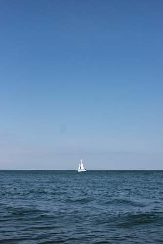 transportation sailboat on sea under clear blue sky vehicle