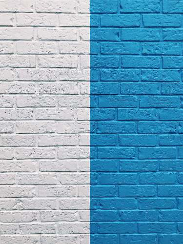 wall blue and white painted wall blue