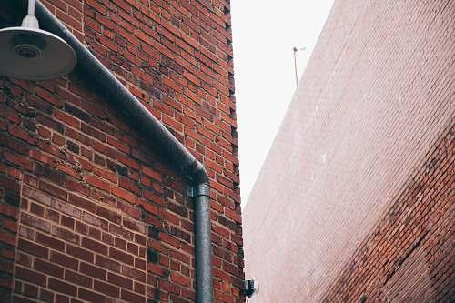 banister brown bricks handrail