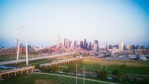 urban aerial photography of city skyline city
