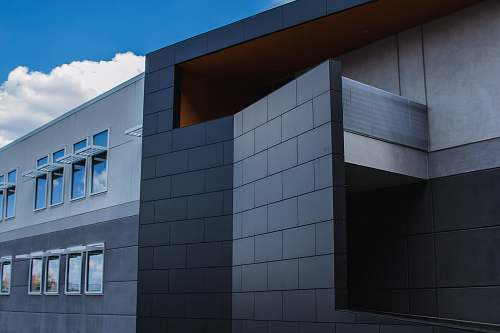 grey black and gray concrete building office building