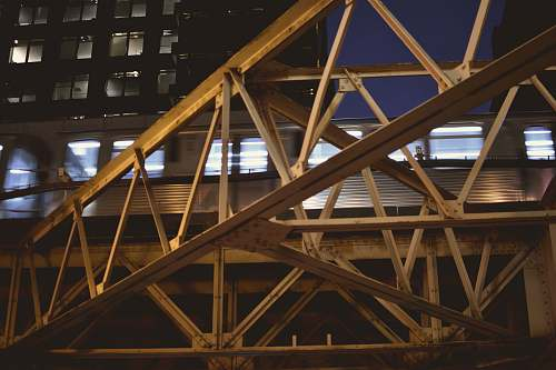 wood brown metal tower during night time chicago