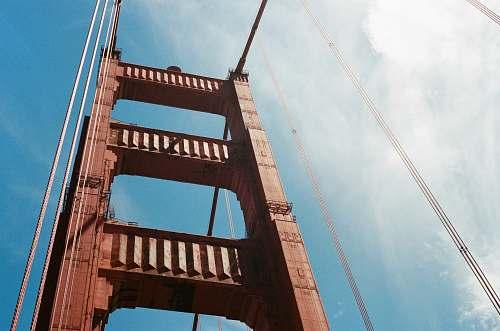 bridge brown suspension bridge architecture