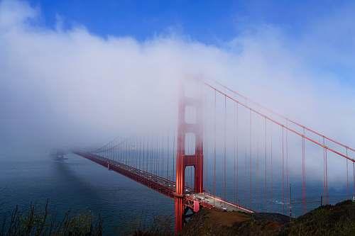 bridge golden gate bridge under white cloud blue skies golden gate bridge