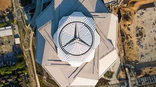 tower high-angle photo of Mercedes-Benz building atlanta