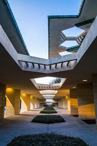 architecture photo of building interior skylight