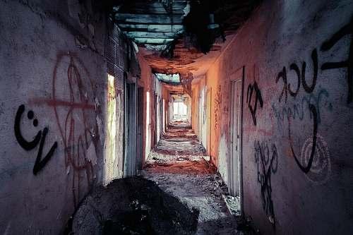 corridor structural view of hallway alley