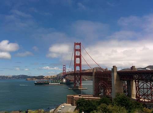 city The Golden Gate bridge metropolis