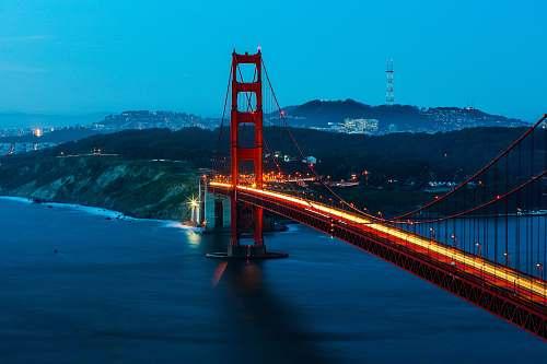 bridge top view of San Francisco bridge san francisco