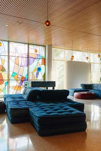 interior tufted blue mattress interior design