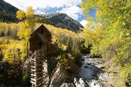 crystal mill aerial view photography of tree house carbondale