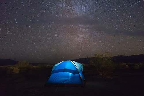 tent blue tent under starry sky leisure activities