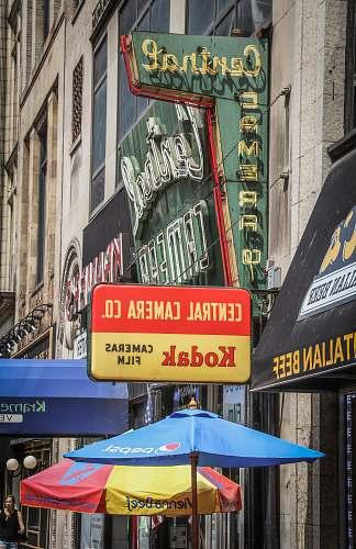 umbrella Central store marquee signage chicago