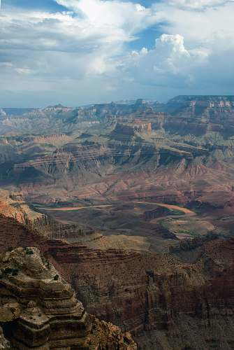 valley areal view of Grand Canyon, USA mountain