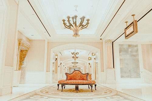 lamp orange sofa inside white room caesars palace
