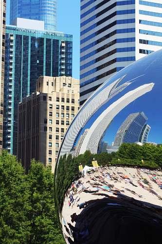 building Cloudgate, Chicago city