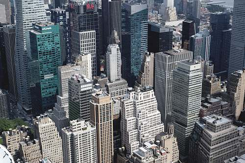 building aerial view of city buildings new york