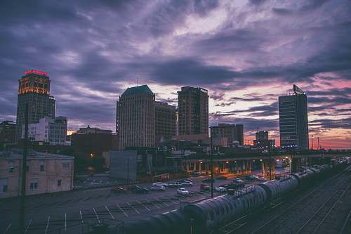urban bird's eye view photography of high-rise buildings and train station birmingham