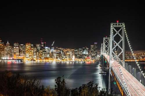 building bridge beside city urban