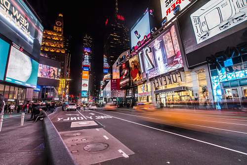 times square timelapse photography of New York Times Square new york