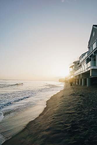 beach white house near shore malibu