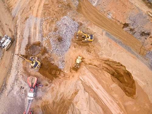 georgia aerial photography of three heavy equipment united states
