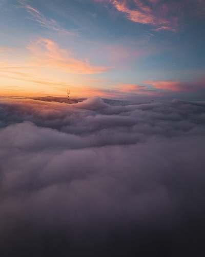 nature sea of cloud dawn
