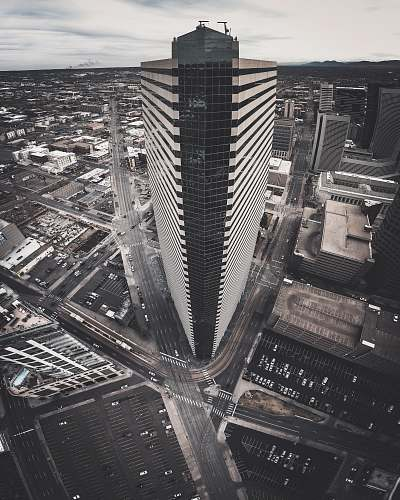 city bird's-eye view photography of concrete high-rise building building