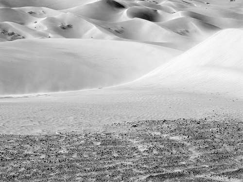 black-and-white grayscale photography of desert sand