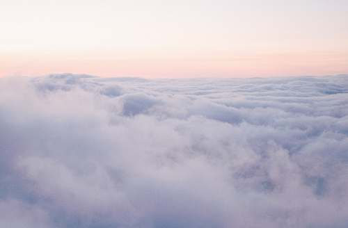 pastel photography of white clouds sky