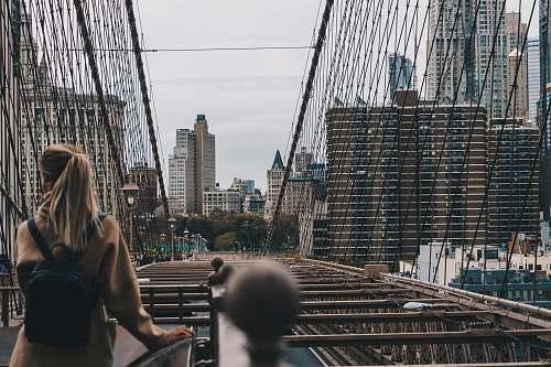 person Brooklyn Bridge, New York people