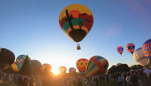 person hot air balloon aircraft