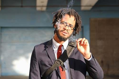 person man smoking cigarette people