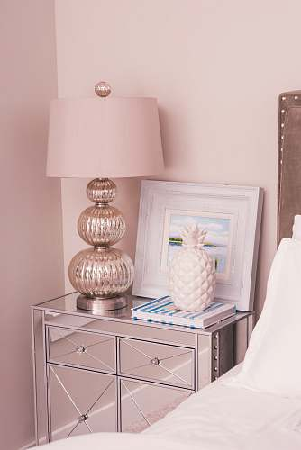 furniture white and silver-colored table lamp table lamp
