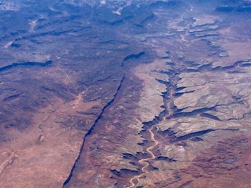 glacier aerial photo of Grand Canyon, Arizona ice