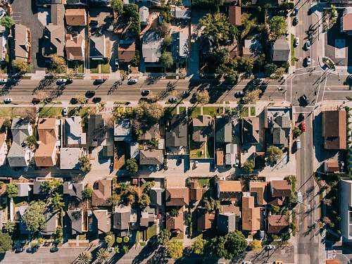 nature aerial photography of houses during daytime outdoors