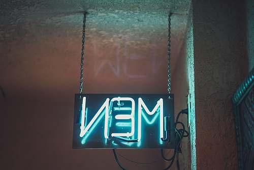 neon MEN led signage mayan cinema