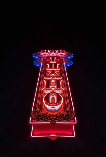 neon red and blue 808 Ihaho storefront 807 w idaho st