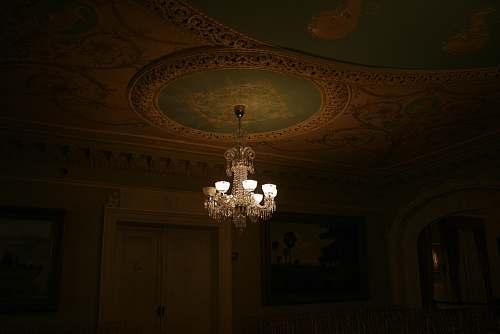 lamp gray uplight chandelier inside room chandelier