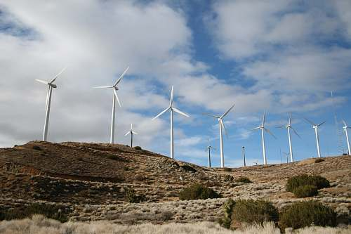 photo motor white wind turbines during daytime turbine free for commercial use images
