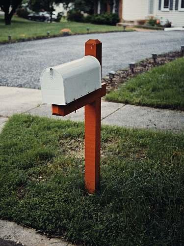 postbox gray metal mail box laurel