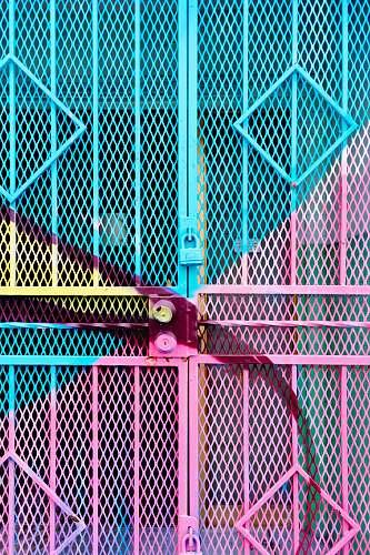 wynwood blue and pink steel gate pink
