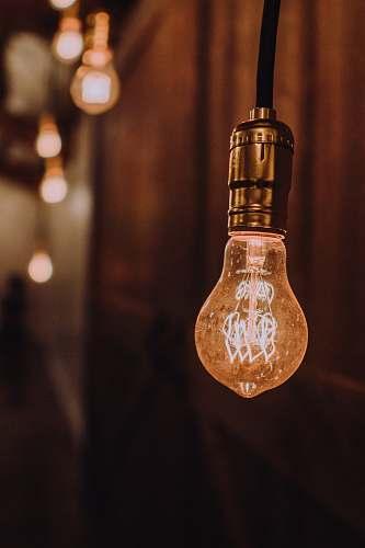 lighting orange light bulb boulder